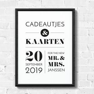 Poster Cadeaus & Kaarten Modern typografisch
