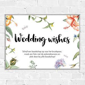 Poster gastenboek love blooms