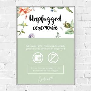 Poster unplugged bruiloft love blooms