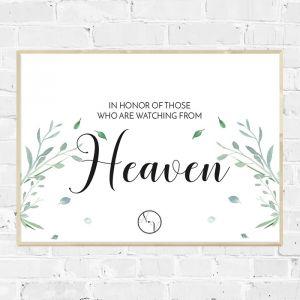 Poster Modern Elegance in loving memory