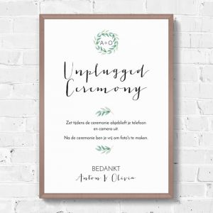 Poster unplugged ceremonie eucalyptus botanical