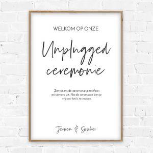Poster unplugged ceremonie modern