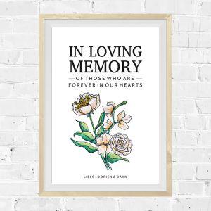 Poster watercolor festival in loving memory