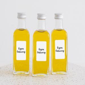 Olijfolie flesje eigen ontwerp