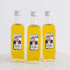 Olijfolie flesje met foto