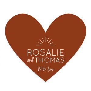 Etiket hart Rustic love