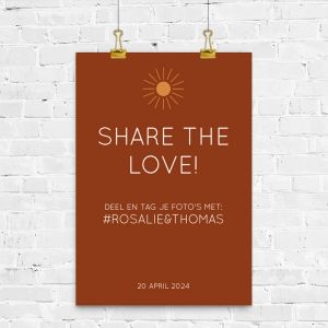 Poster hashtag Rustic love