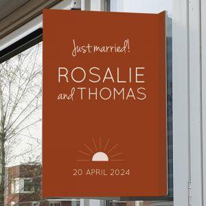 Raambord bruiloft Rustic love