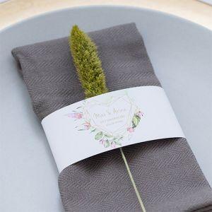 Servetring bruiloft Geometric Floral