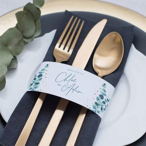 Servetring bruiloft Golden Green