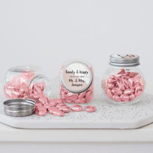 Snoeppotje marmer pastel roze