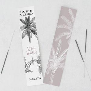 Sterretjes trouwbedankje palm springs
