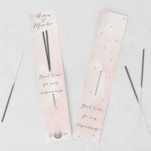 Sterretjes trouwbedankje watercolor pastel roze