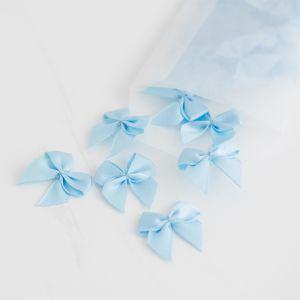 Satijnen strikje lichtblauw (25st)