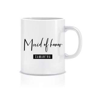 Mok maid of honor met naam modern