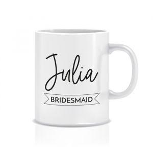 Mok bridesmaid met naam