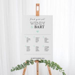 Tafelschikking bord Lovely lettertypes