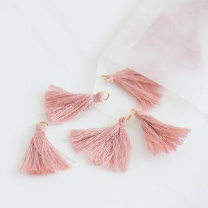 Mini tassel vintage pink (25st)
