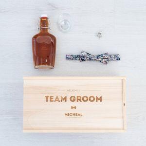 team groom box hout gepersonaliseerd