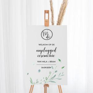 Bruiloft bord unplugged ceremonie modern elegance