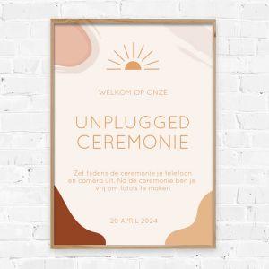 Poster unplugged ceremonie Rustic love