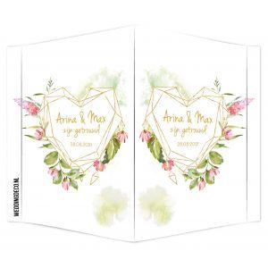 Raambord geomatric floral hart