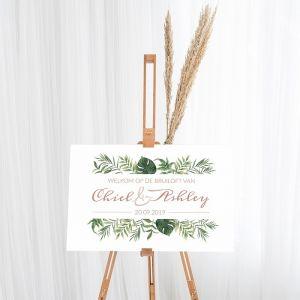 Gepersonaliseerd welkomstbord bruiloft beautiful botanics
