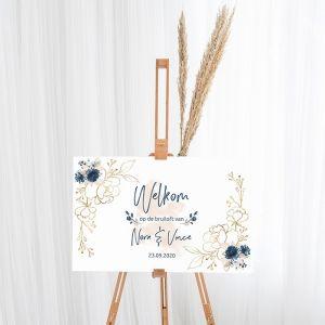 gepersonaliseerd welkomstbord bruiloft elegance breeze