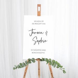 Gepersonaliseerd welkomstbord bruiloft modern