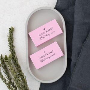 Zeep bedankje bruiloft Lovely Lettertypes