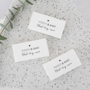 gepersonaliseerd zeep bedankje bruiloft lovely lettertypes