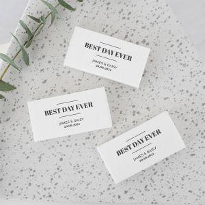 Gepersonaliseerd zeepbedankje modern paper