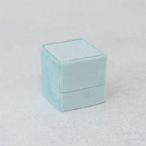Velvet ringdoosje vierkant Soft Mint Forever Box