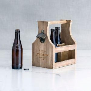 Houten bierkrat Brewery Co. met naam