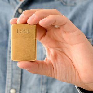 Aansteker goud met initialen
