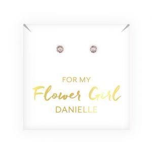 Oorbellen Flower Girl gepersonaliseerd