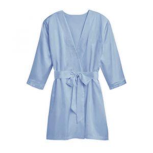 Zijden kimono lichtblauw met naam