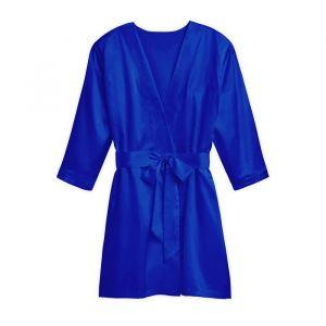 Zijden kimono royal blue met naam