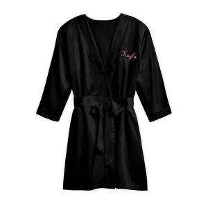 Zijden kimono zwart met naam