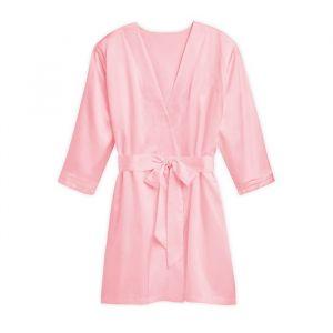 Zijden kimono roze met naam