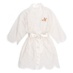 Kanten kimono met initiaal