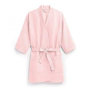 Kimono wafel roze met naam