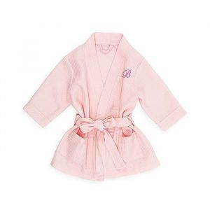 Kimono baby wafel roze met naam (9-24m)
