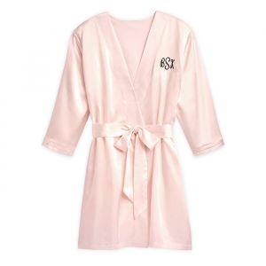 Satijnen kimono blush met naam