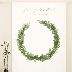 Backdrop Love Wreath met namen