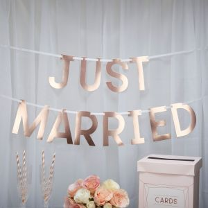 Just married slinger roségoud Geo Blush