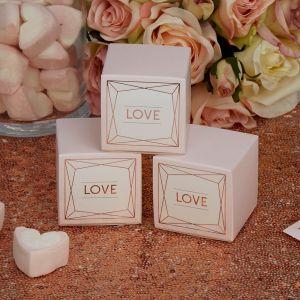 Love Bedankdoosjes Geo Blush (10st)