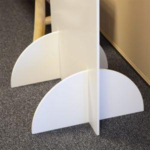 Welkomstbord staand kwartrond modern paper