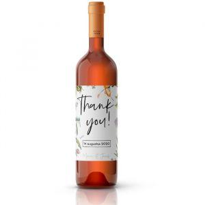 Wijnfleslabel bedankt love blooms