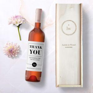 Wijnkist infinity cadeaubox bruiloft gepersonaliseerd